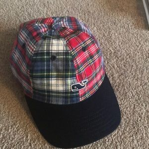 Vineyard vines tartan plaid baseball cap